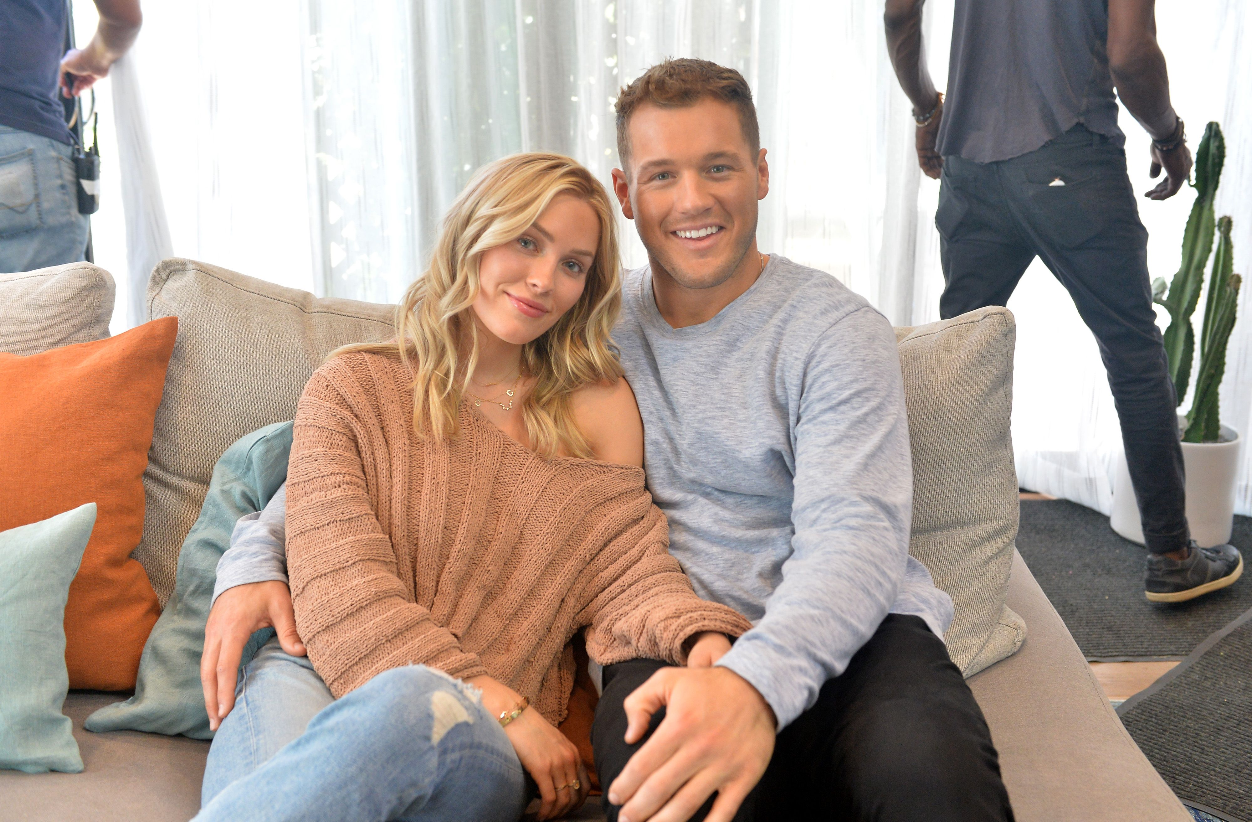 Cassie Randolph and Colton Underwood in an ad for Tubi on October 08, 2019 in Mar Vista, California. | Source: Getty Images
