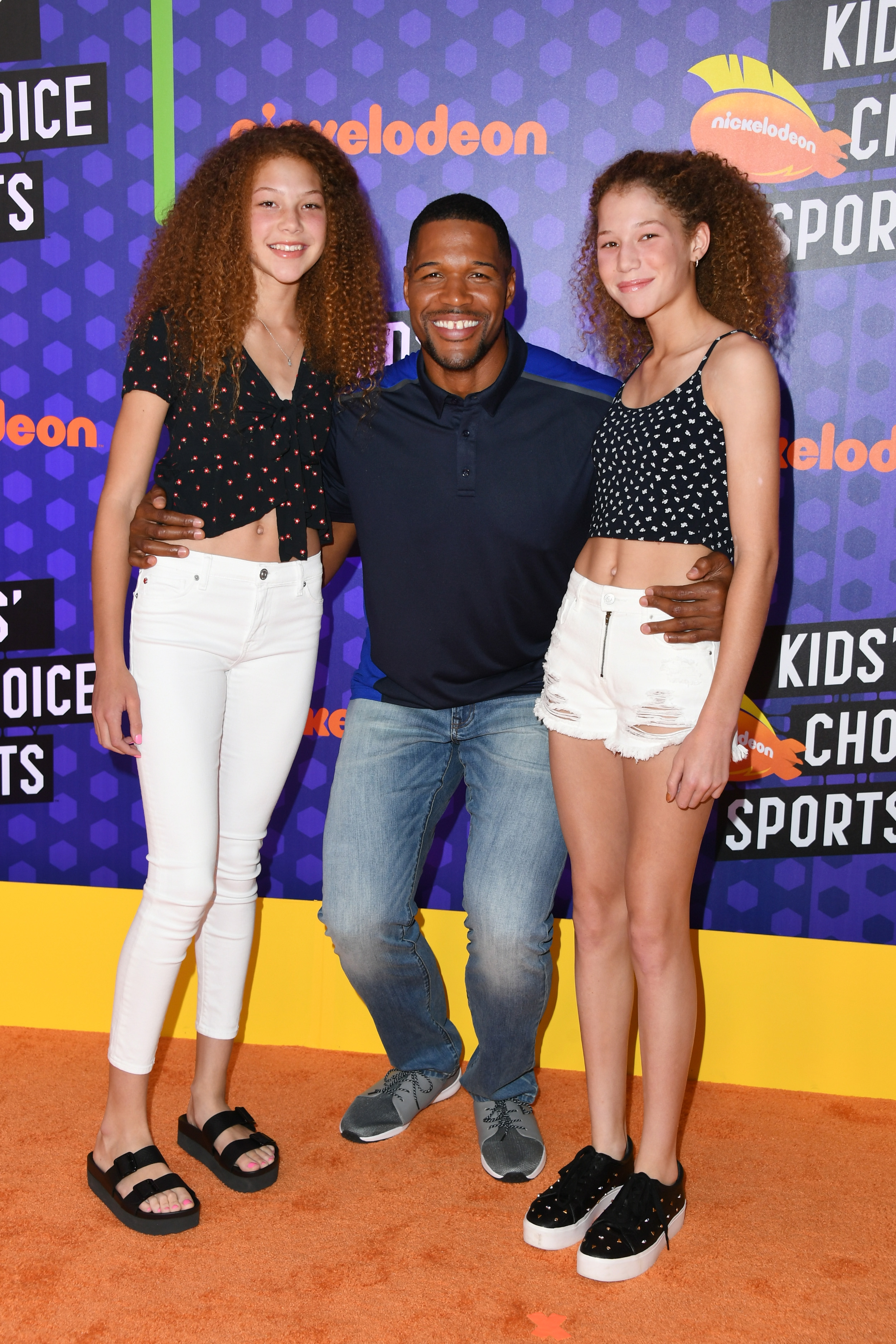 Isabella Strahan, Michael Strahan Sophia Strahan. Image Credit: Getty Images