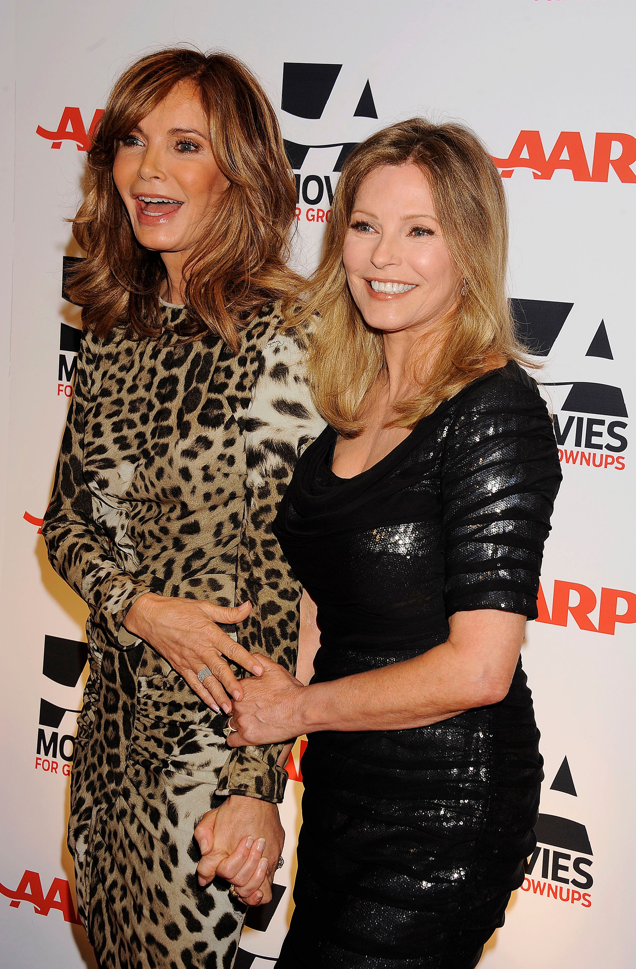 Jaclyn Smith and Cheryl Ladd at the AARP The Magazine's 10th Annual Movies for Grownups Award Gala at The Beverly Hilton hotel on February 7, 2011 | Photo: Getty Images