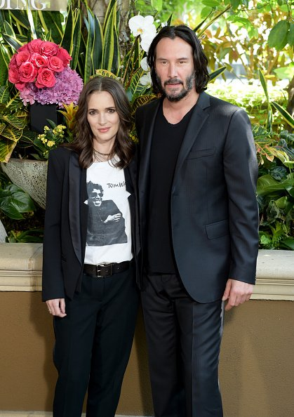 Winona Ryder and Keanu at Beverly Hills on August 18, 2018 in Los Angeles, California. | Photo: Getty Images