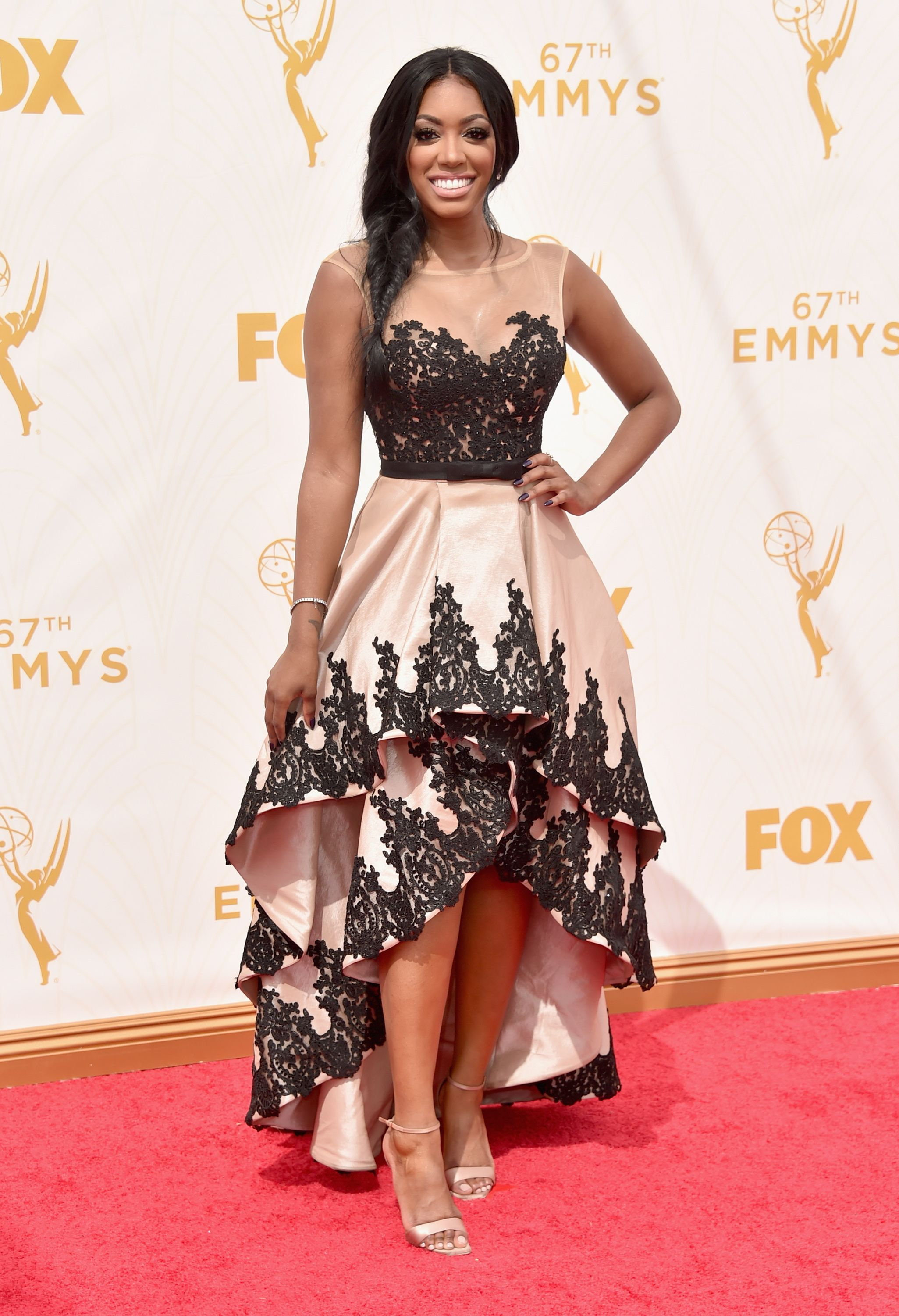 Porsha Williams at the 67th Emmy Awards at Microsoft Theater on September 20, 2015 in Los Angeles, California.   Source: Getty Images
