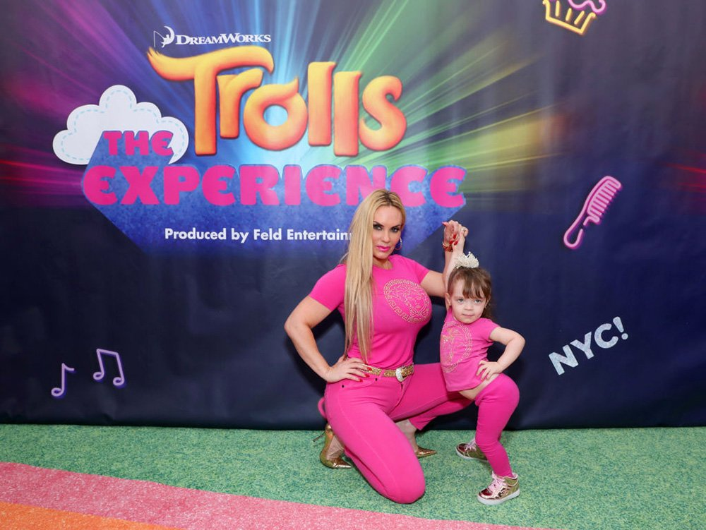 Coco Austin and daughter Chanel Marrow attend DreamWorks Trolls The Experience Rainbow Carpet Grand Opening on November 14, 2018 in New York City.   Image: Getty Images