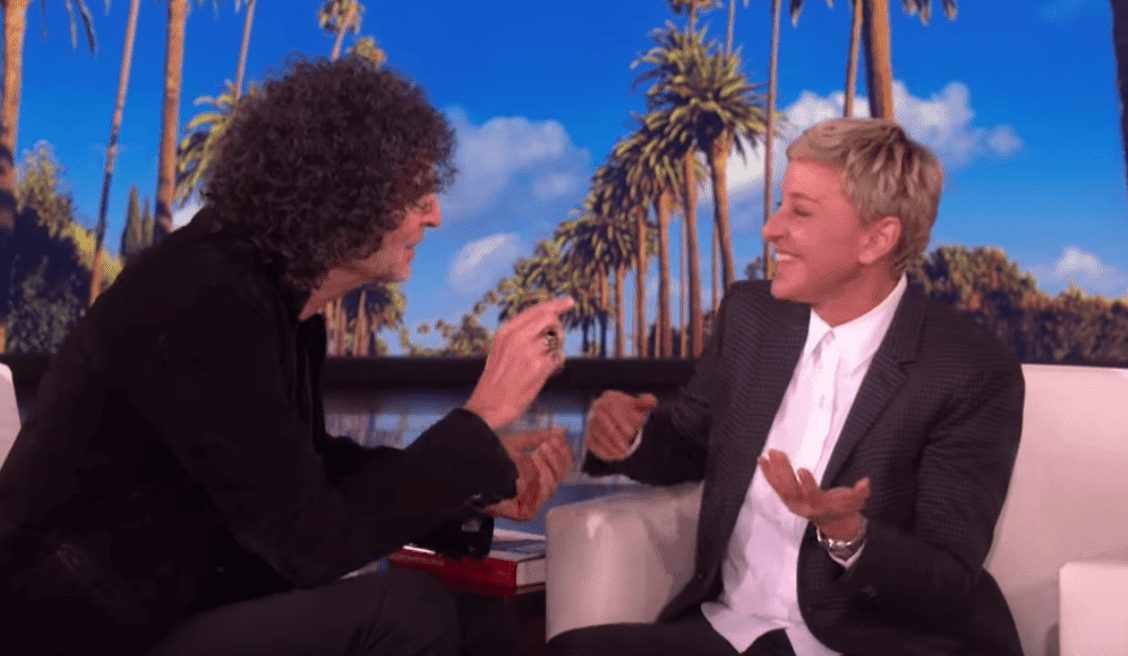 Howard Stern and Ellen DeGeneres conversing during his appearance on the Ellen Show. | Source: YouTube/TheEllenShow