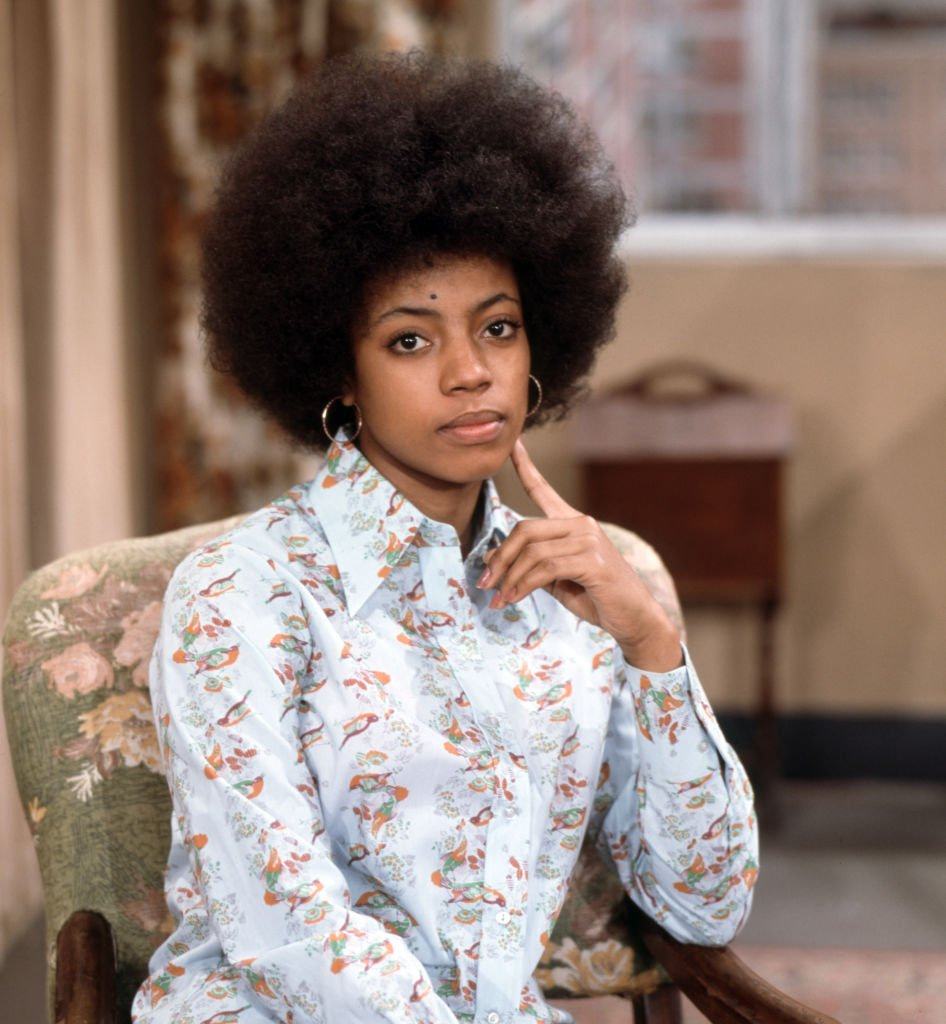 """BernNadette Stanis as """"Thelma Evans"""" in the CBS television situation comedy, GOOD TIMES on January 1, 1977 