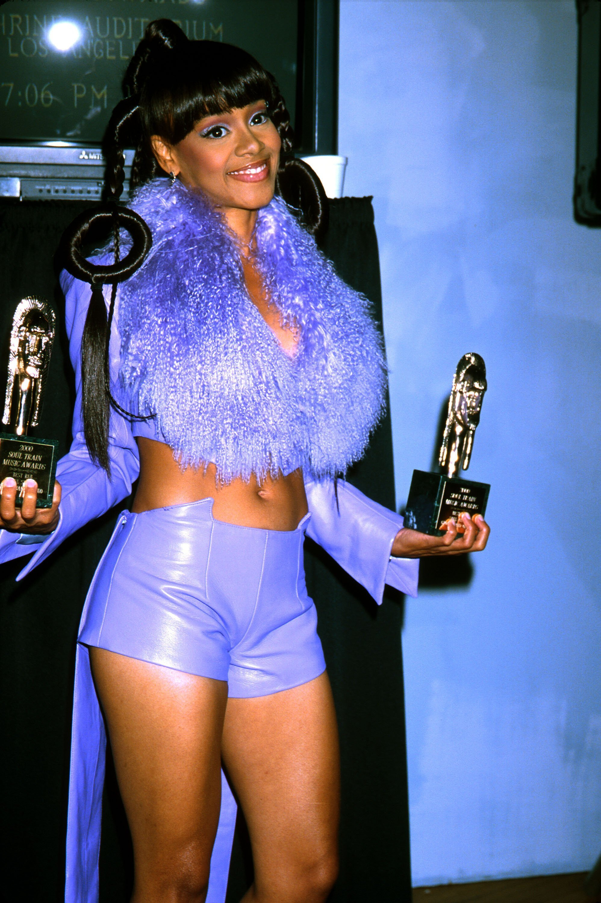 """Lisa """"Left Eye"""" Lopes of TLC at the 14th Soul Train Awards at the Shrine Auditorium in Los Angeles, CA. March 4th 2000