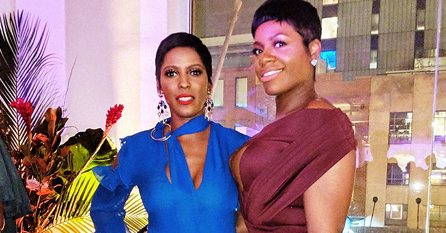Tamron Hall Poses with 'American Idol' Alum Fantasia Barrino as They Team up for Host's New Show Theme Song, 'Shine'