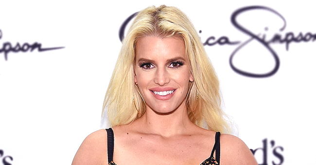 Jessica Simpson Poses in a Leopard Print Swimsuit for Her Birthday (Photos)