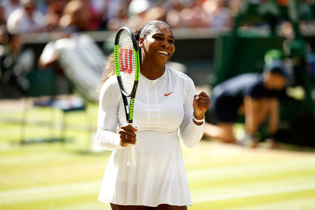 Serena Williams at the 2018 Wimbledon in England in July 2018.   Photo: Getty Images