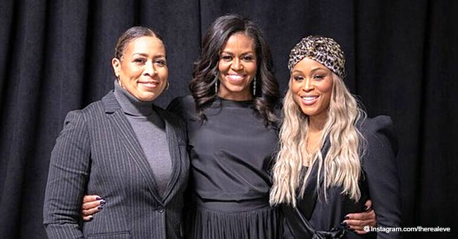 Eve and her mother rock black outfits in recent pic with former First Lady Michelle Obama
