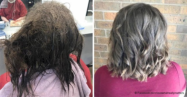 Hairdresser transforms depressed teen's matted hair and she looks unrecognizable