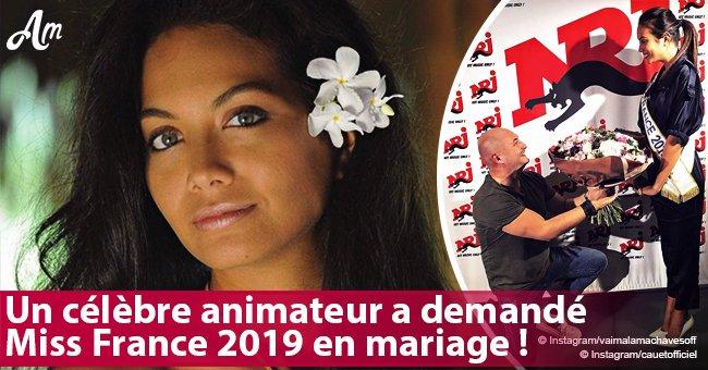 Un célèbre animateur demande à Miss France 2019 Vaimalama Chaves de l'épouser devant les caméras