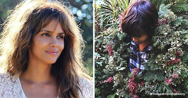 Halle Berry captures hearts with adorable photo of her son wearing Christmas wreath as a necklace