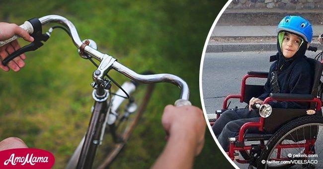 Hombre explotó las redes sociales con una foto de la bicicleta que hizo para su hijo discapacitado