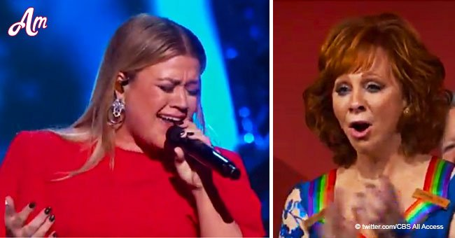 Kelly Clarkson delivered powerful performance of her mother-in-law Reba McEntire's 'Fancy' song