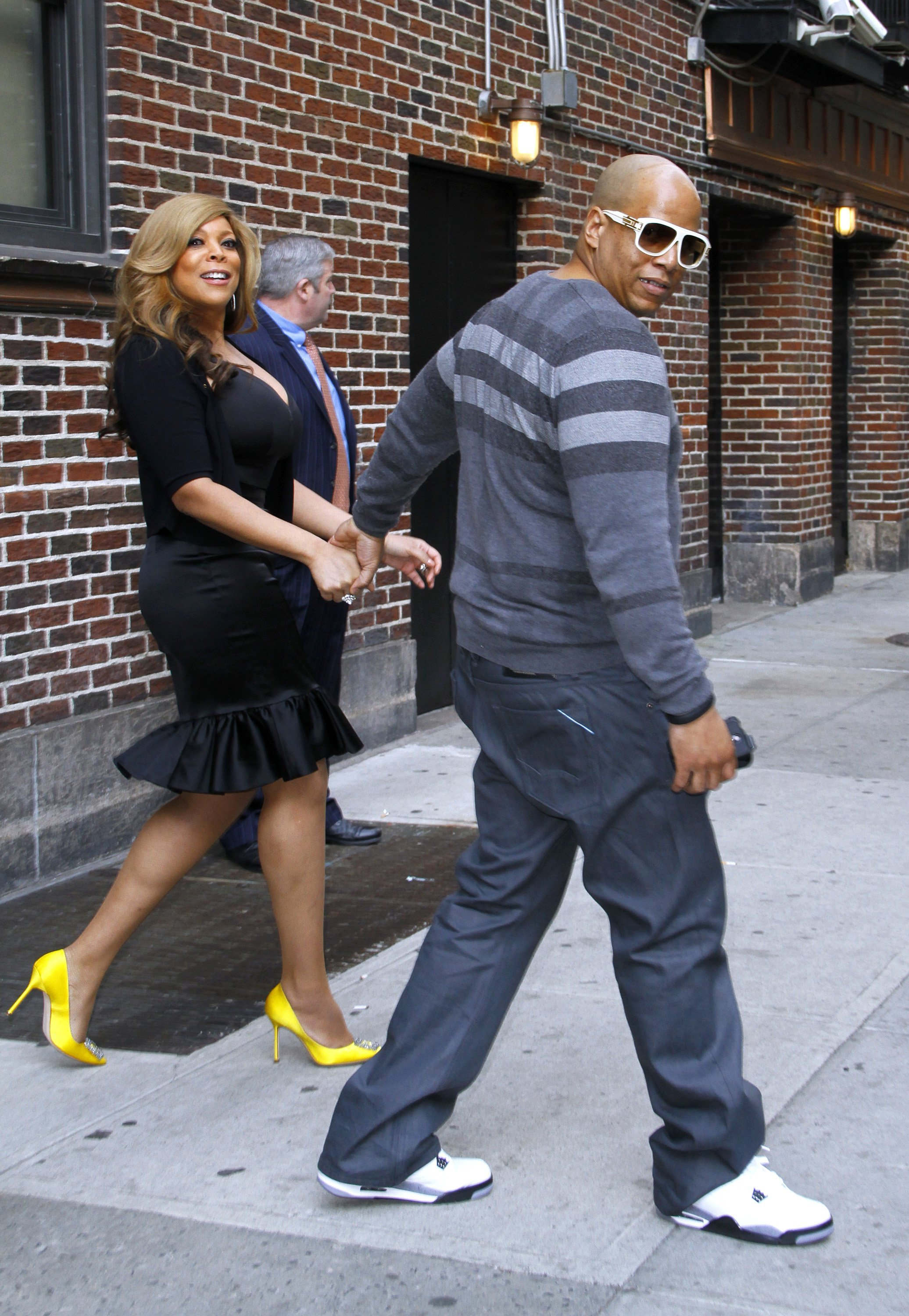 Wendy Williams and Kevin Hunter leaving 'The Late Show with David Letterman' at Ed Sullivan Theater on April 24, 2012 in New York City. |  Source: Getty