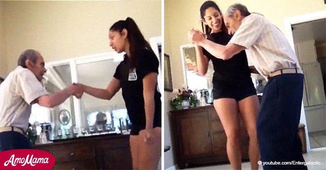 Une fille demande à son grand-père atteint de la maladie d'Alzheimer de danser et il a prouvé que l'âge n'est qu'un chiffre