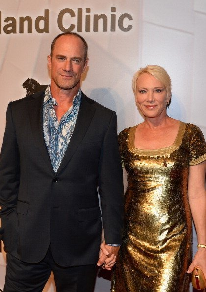 Christopher Meloni and his wife Sherman Meloni at the MGM Grand Garden Arena on April 26, 2014 in Las Vegas, Nevada. | Photo: Getty Images