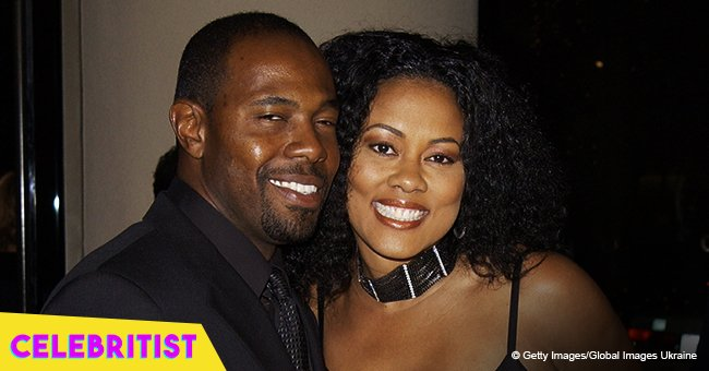 Lela Rochon stuns in bejeweled white gown in throwback pic from her wedding