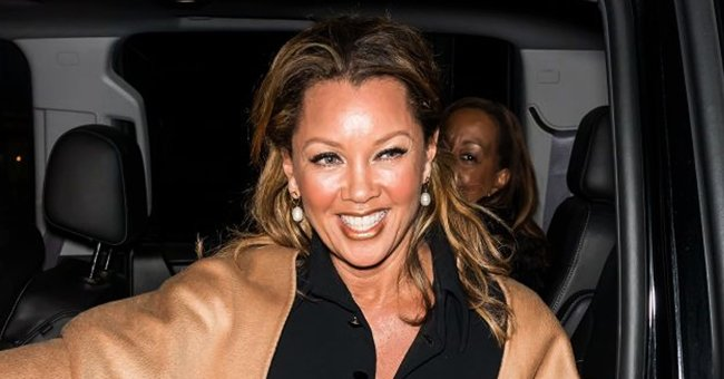 Vanessa Williams Stuns in a Tight Black Dress Featuring 9 Leather Belts and a Metallic Choker
