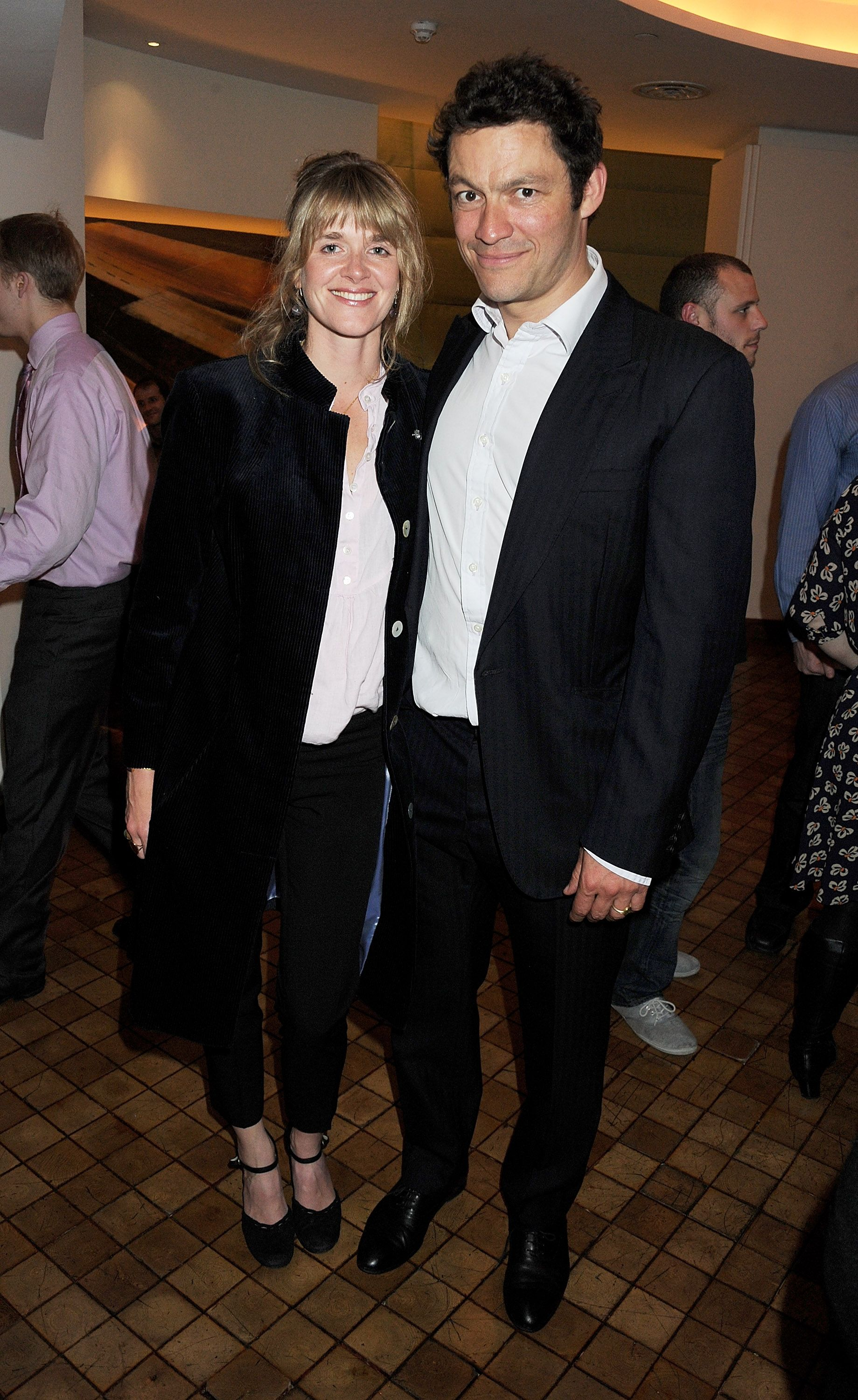 Catherine Fitzgerald and Dominic West at an after party following press night of the new West End production of Simon Gray's Butley at Axis at One Aldwych on June 6, 2011 | Photo: Getty Images
