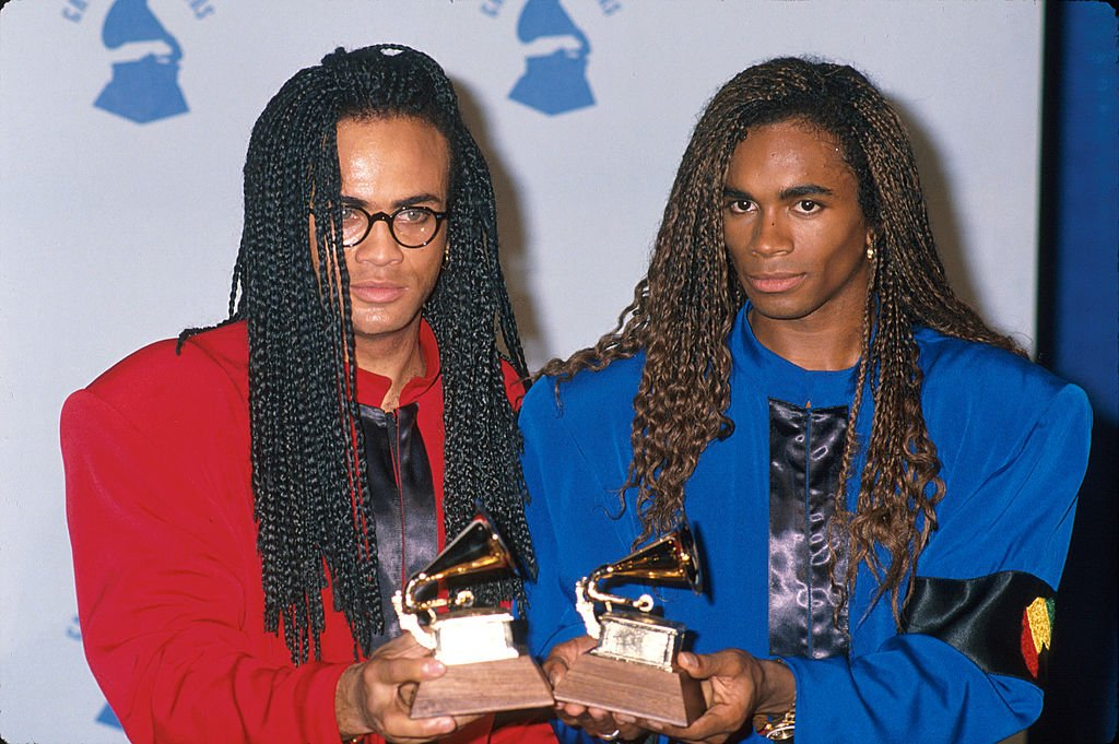Fab Morvan and Rob Pilatus from Milli Vanilli on February 21, 1990 | Photo: Getty Images