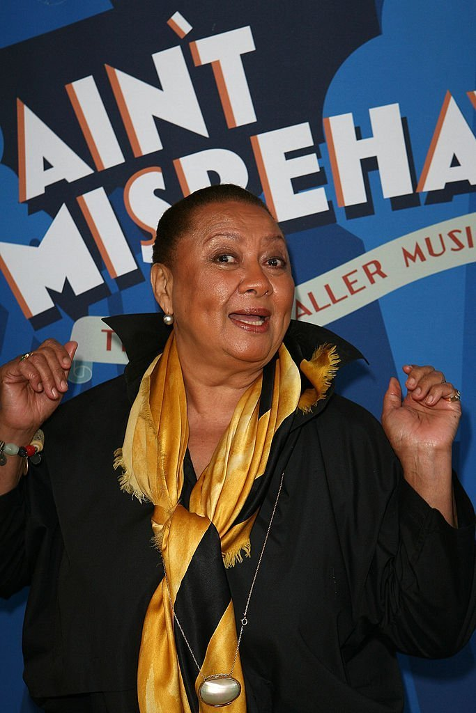 "Barbara Montgomery arrives for the opening night performance of ""Ain't Misbehavin'""  