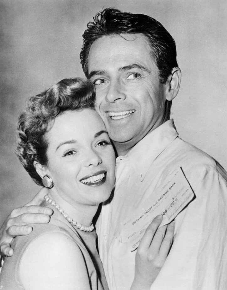"""Nancy Gates and Josh Hudson in """"The Millionaire"""" in 1955 