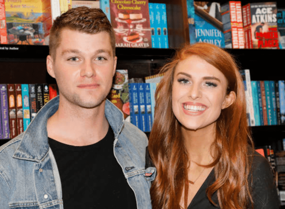 "During their book tour, Jeremy Roloff and Audrey Roloff pose in a book store with their new book ""A Love Letter Life,"" at The Grove, on April 10, 2019, in Los Angeles, California 