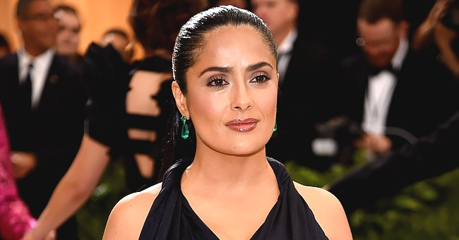 Salma Hayek Looks Stunning Celebrating Her 54th Birthday in a Yellow Swimsuit