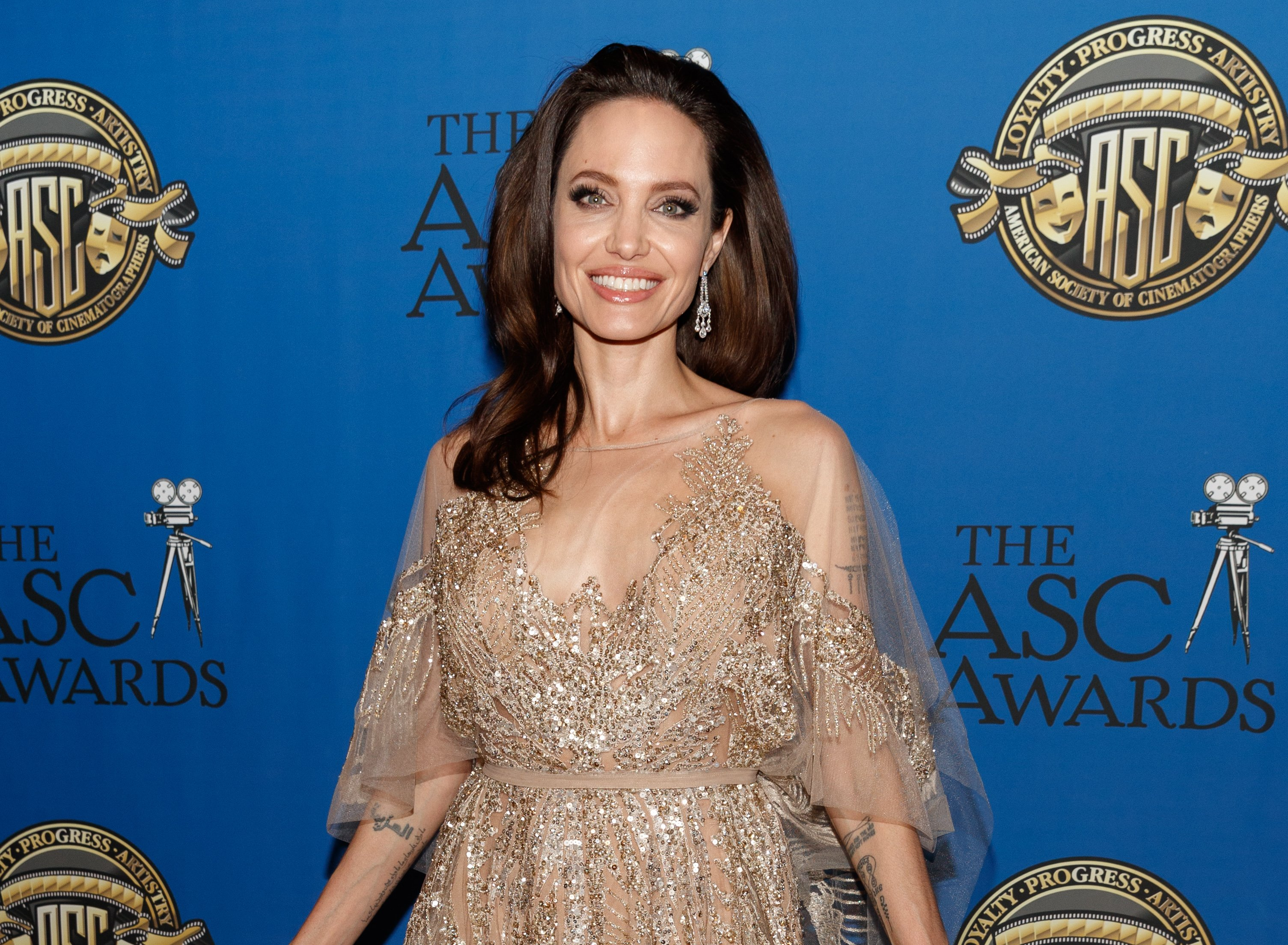Angelina Jolie at the American Society of Cinematographers Awards in 2018. | Photo: Getty Images