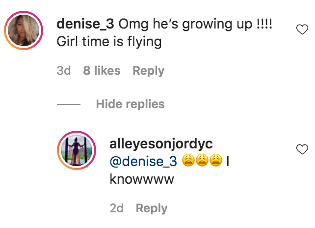 A fan commented on a photo of Jordan Craig and her son Prince Thompson sitting in aprovate plane | Source: Instagram.com/alleyesonjordyc