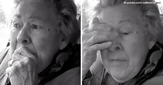 Cette grand-mère atteinte de la maladie d'Alzheimer se débat au quotidien après avoir revécu le moment de la découverte de la mort de son mari