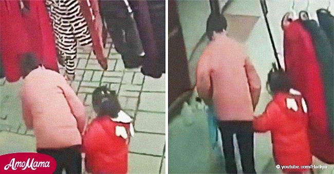 Gruseliges Video zeigt wie Kinderhändler 3-jähriges Mädchen mit Spielzeug entführt