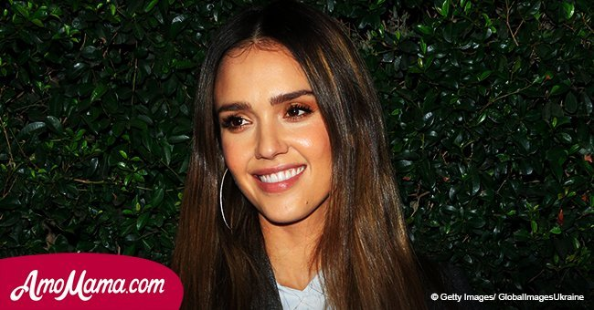 Doting mother Jessica Alba, 36, shares a cute photo of her newborn son with her daughter