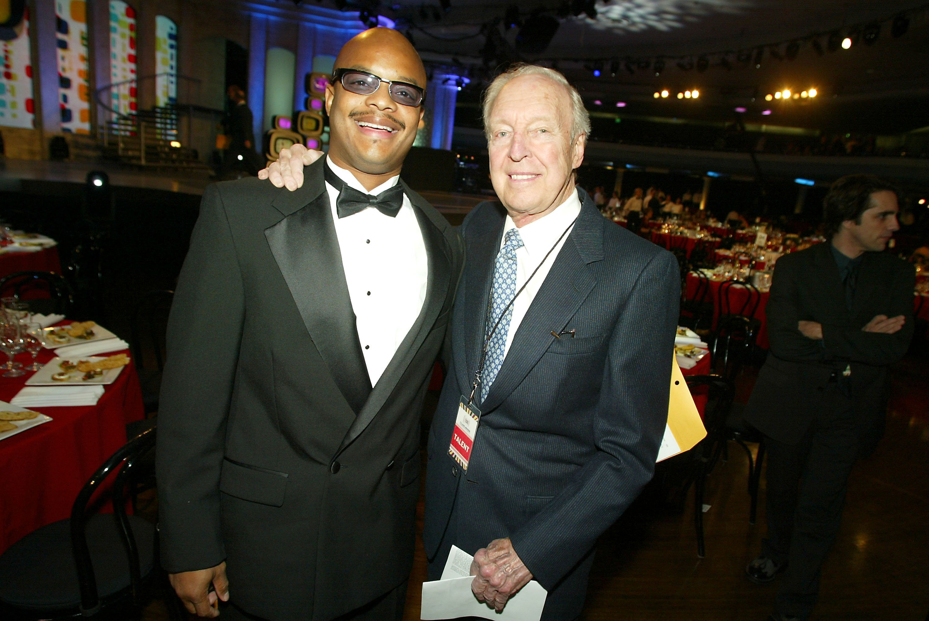 Actor Todd Bridges poses with Conrad Bain during the TV Land Awards 2003 at the Hollywood Palladium in California. I Image: Getty Images.