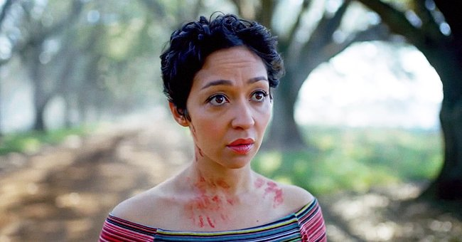 """Actress Ruth Negga during an appearance on the set of the AMC movie, """"Preacher."""" 