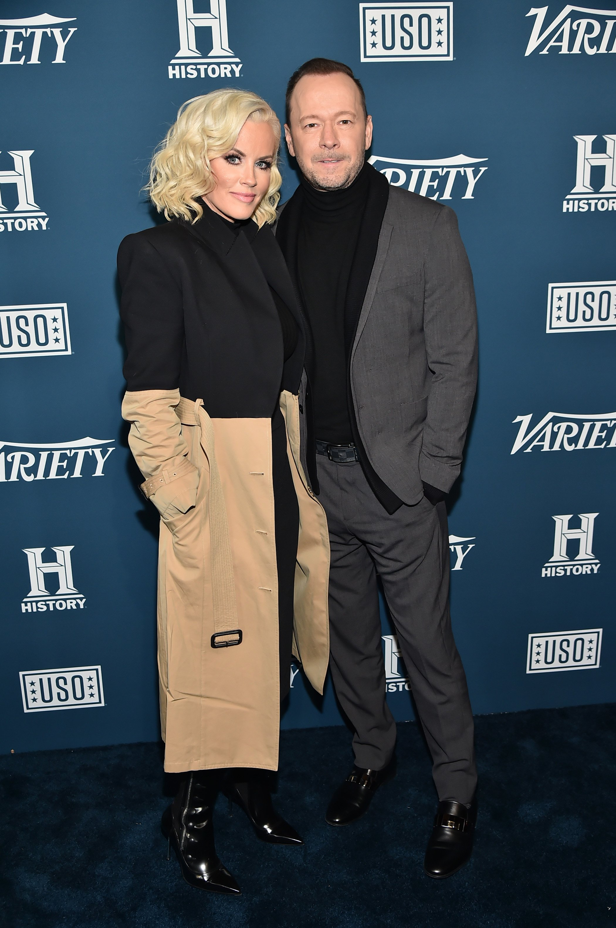 Jenny McCarthy and Donnie Wahlberg attend Variety's 3rd Annual Salute To Service at Cipriani 25 Broadway on November 06, 2019 in New York City | Photo: GettyImages