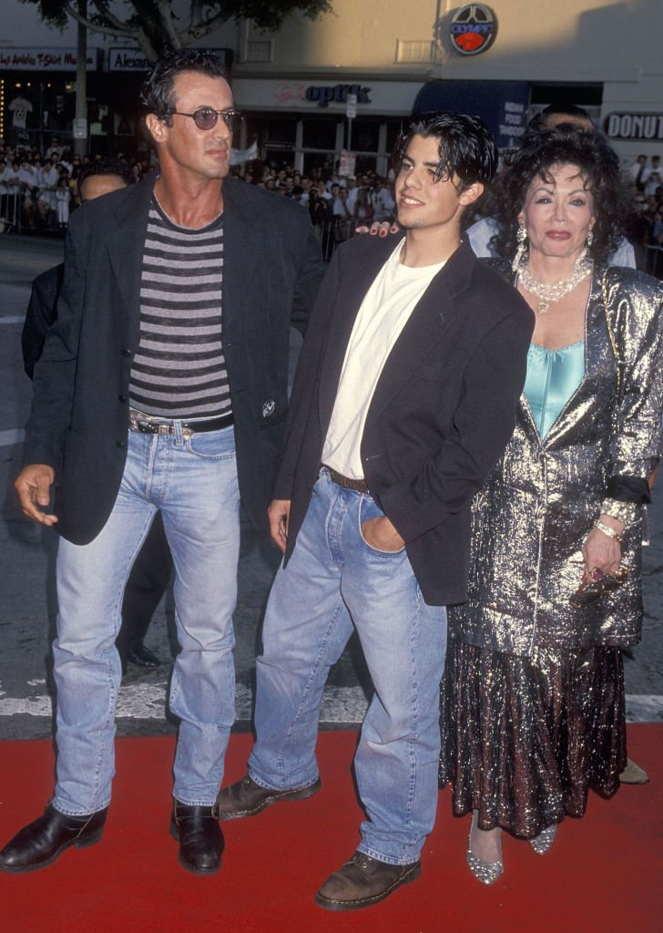 Sylvester Stallone, Sage Stallone und Jackie Stallone | Quelle: Getty images