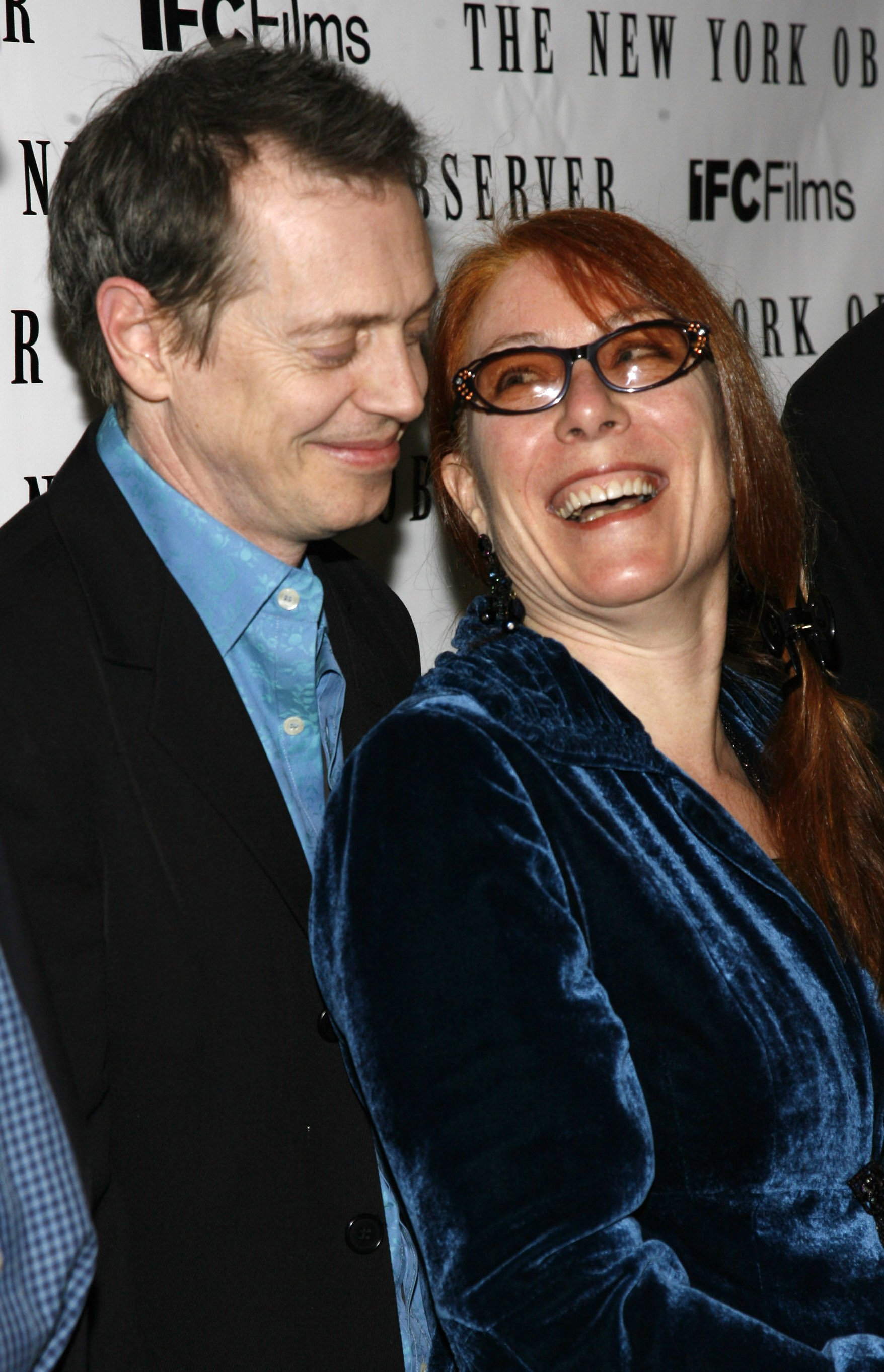 """Steve Buscemi and Jo Andres. during """"Lonesome Jim""""- NY Premiere - Arrivals at Clearview Chelsea Cinemas in New York, March 21, 2006 