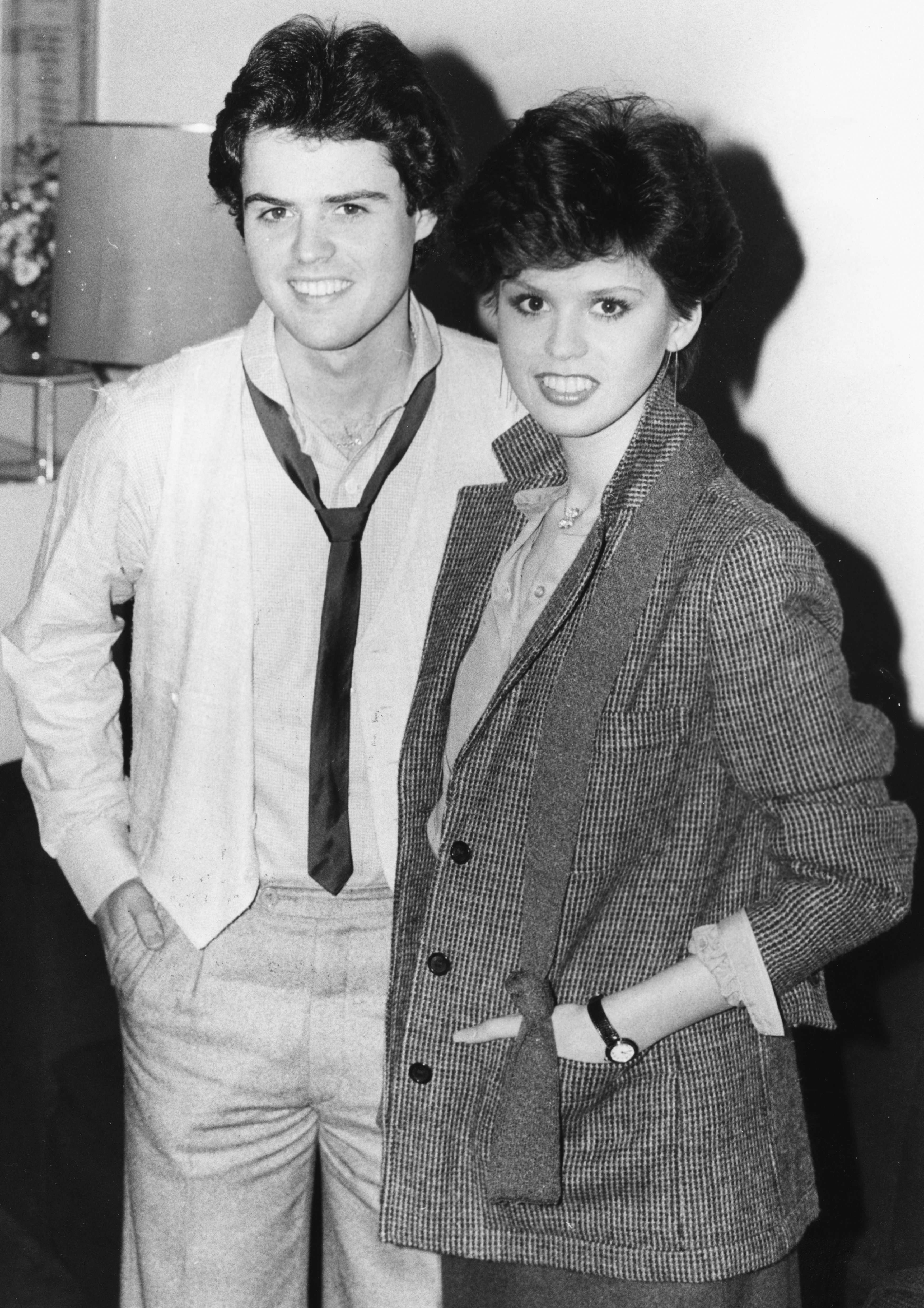 Donny and Marie Osmond, smiling for the cameras at a press conference, London, January 22nd 1979. | Source: Getty Images.