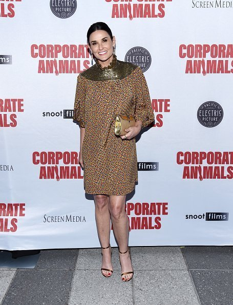 """Demi Moore arrives at the LA Premiere of Screen Media Film's """"Corporate Animals"""" at NeueHouse Los Angeles in Hollywood, California. 