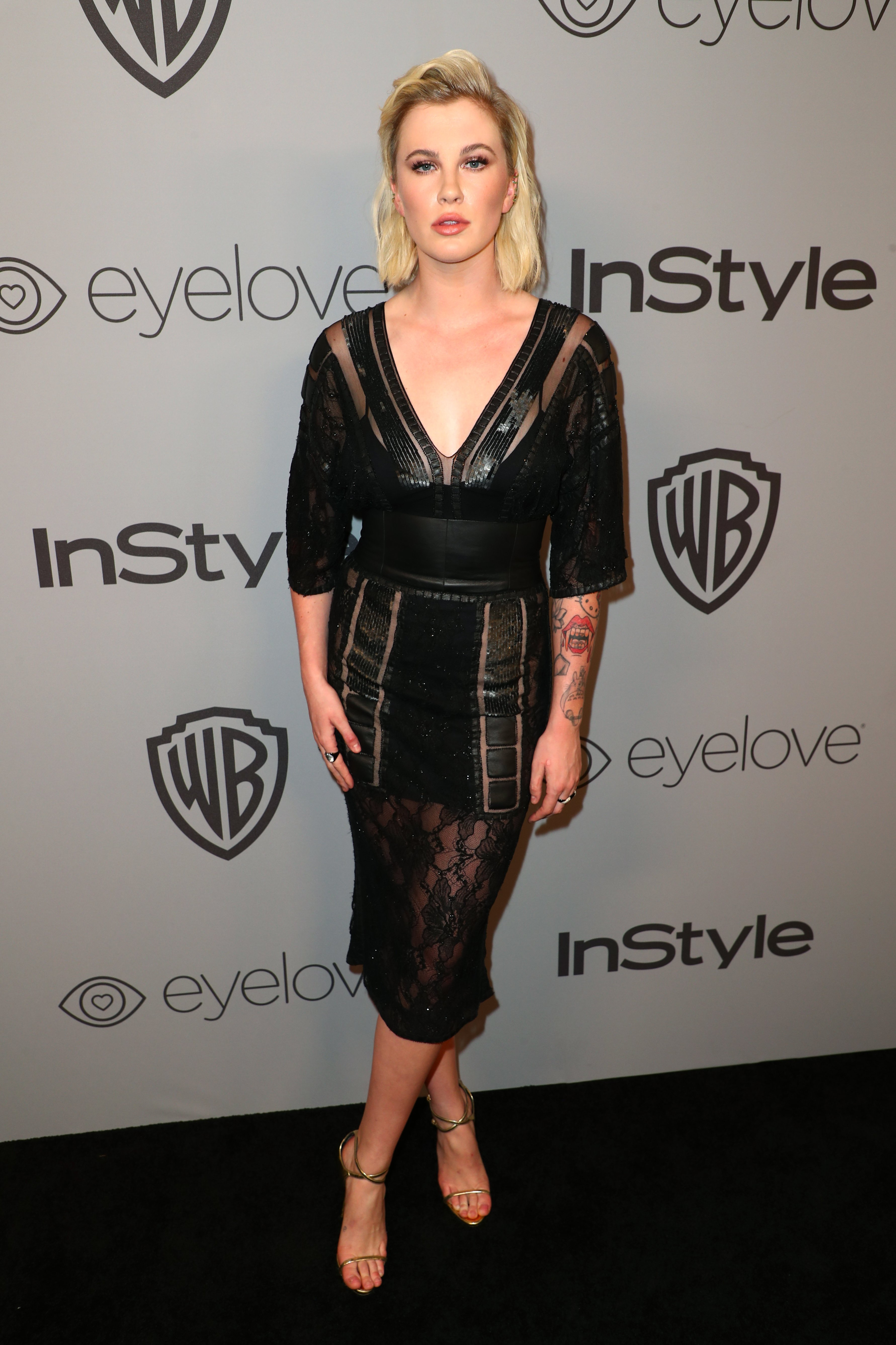 Ireland Baldwin attends the 2018 InStyle and Warner Bros. 75th Annual Golden Globe Awards Post-Party | Source: Getty Images