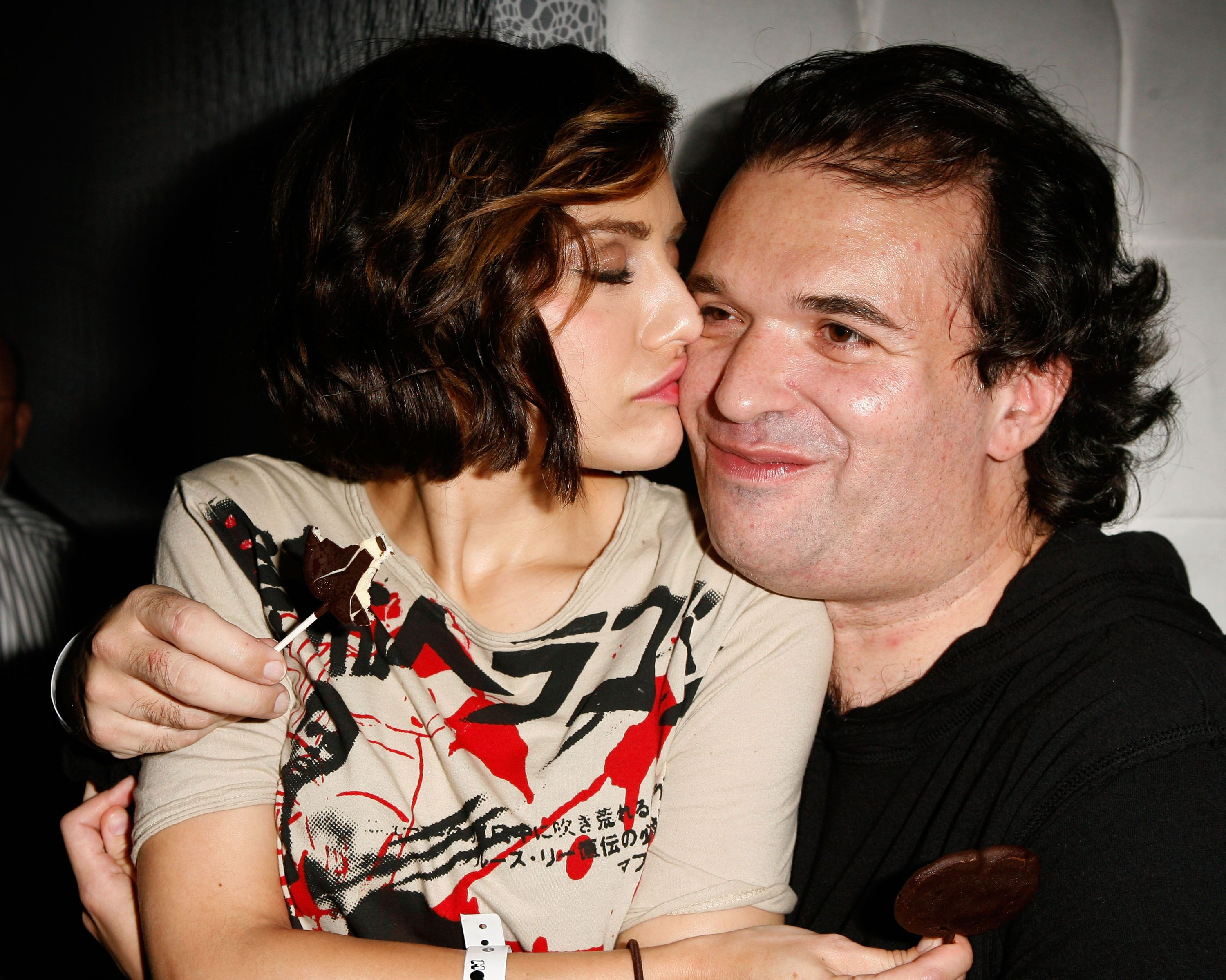 Brittany Murphy and husband, Simon Monjack at the Motorola 9th Anniversary Party on 8 November, 2007 in Hollywood California.   Photo: Getty Images