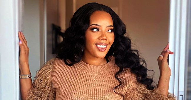 Angela Simmons from 'Growing up Hip Hop' Pours Her Curves into Tight Black Minidress in Gorgeous Snap