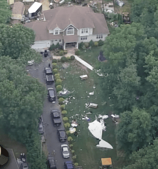 A photo of the backyard where the party was held the day after the shooting. | Photo: YouTube/6abc Philadelphia