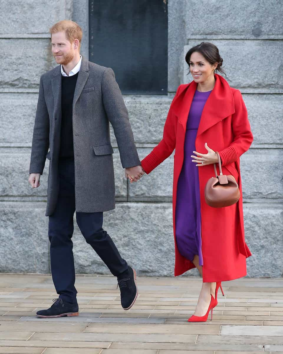 Prince Harry and Meghan Markle during their visit to Birkenhead, Merseyside in January. Photo | Twitter: Vogue Paris