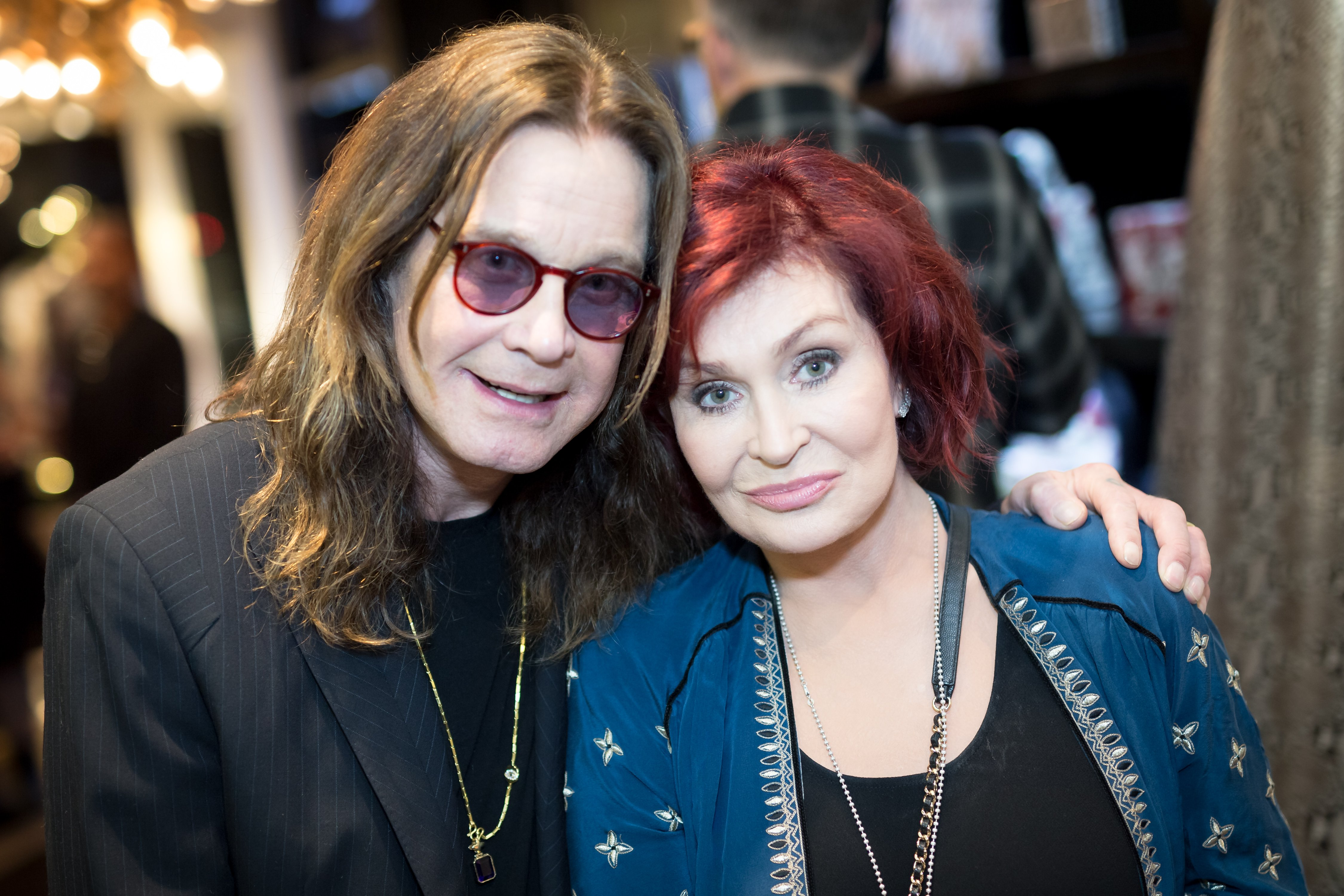 Ozzy and Sharon Osbourne pictured at the Billy Morrison - Aude Somnia Solo Exhibition, 2017, California. | Photo: Getty Images