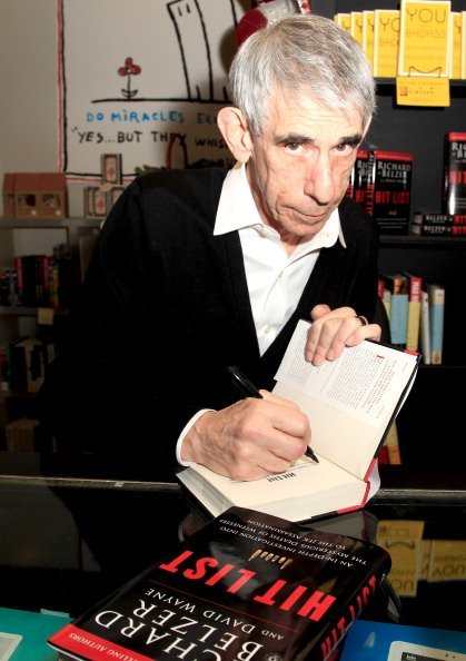 """Richard Belzer signs copies of his book """"Hit List"""" at Book Soup  