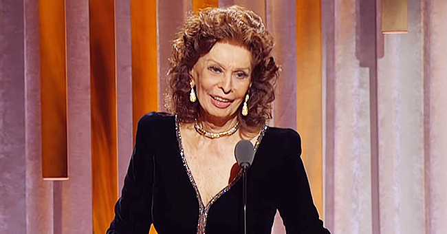 Sophia Loren, 85, Amazes Fans after Stepping out in a Long-Sleeved Dress at Oscar Awards Event