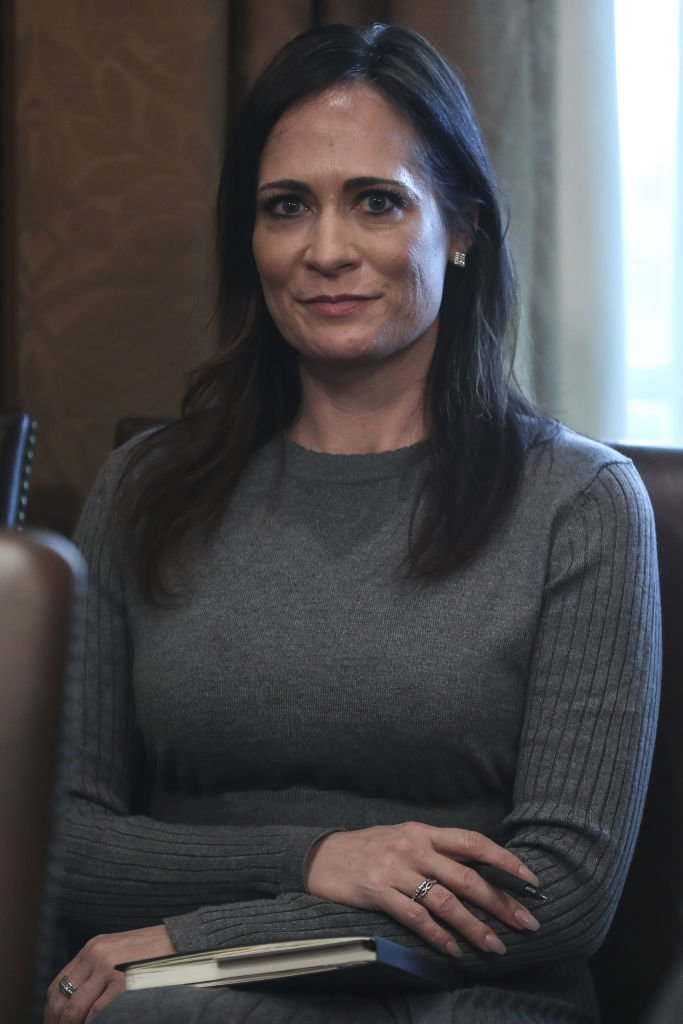 Stephanie Grisham, White House Press Secretary, listens during a Cabinet Meeting with U.S. Donald Trump, not pictured, at the White House in Washington, D.C., U.S., on Tuesday, Nov. 19, 2019 | Photo: Getty Images